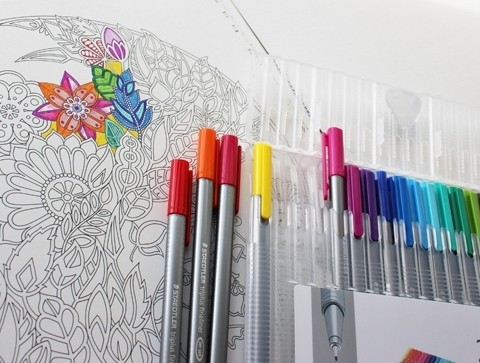 Adult Stress Relieving Coloring Books