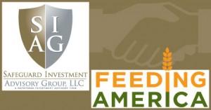 Image of Safeguard Logo and Feeding America Logo
